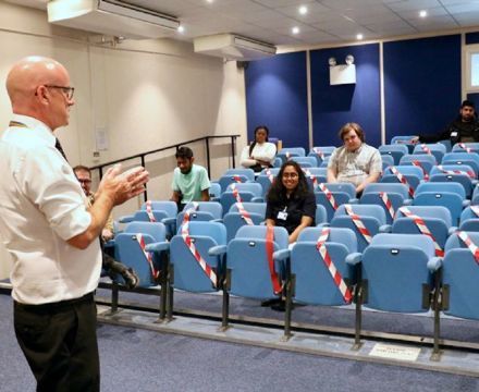 Alan Gurney,  Whipps Chief Executive meets the interns on their first day